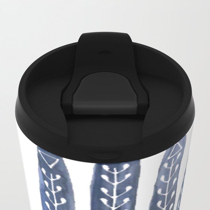 A Good Outlook Palmistry Illustration  Metal Travel Mug