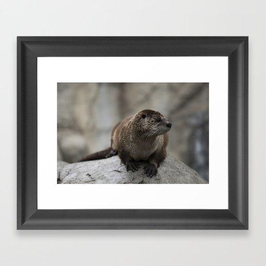 Doin' What He Otter Framed Art Print