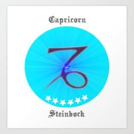 Zodiac Capricorn, starsign capricorn Art Print