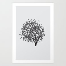 Black Tree Art Print