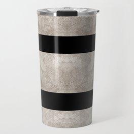 OLD SILVER & BLACK GEOMETRIC PATTERN  Travel Mug