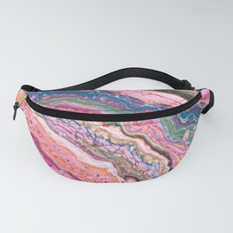 Pink And Gold Galaxy Pour Fanny Pack