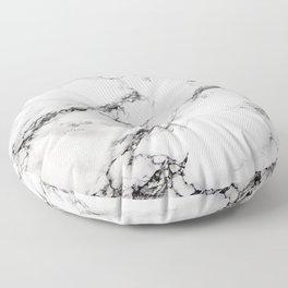 Greyish White Marble Floor Pillow