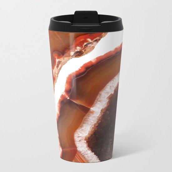 Flame Agate Metal Travel Mug