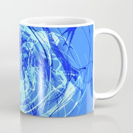 Abstract Blue with Lines Coffee Mug