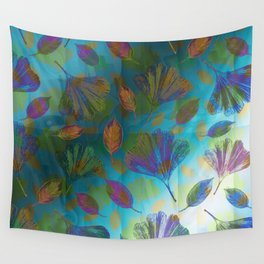 Ginkgo Leaves Under Water Wall Tapestry