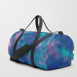 Blue-pink abstract polygonal background Duffle Bag