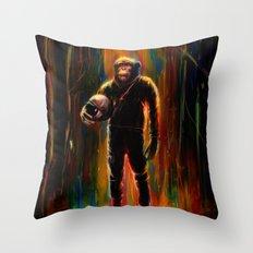 Commander Chimp Throw Pillow