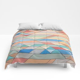 Triangle Pattern no.2 Colorful Comforters