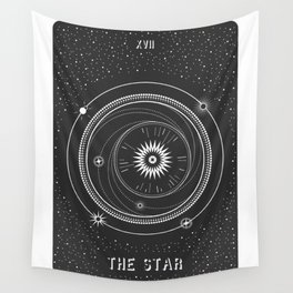 Minimal Tarot  Deck The Star Wall Tapestry