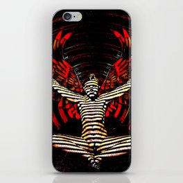 0395s-PDJ Sensual Angel with Red Wings Woman Empowered as Succubus iPhone Skin