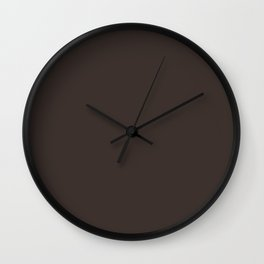 High Mileage ~ Bark Brown Wall Clock