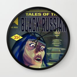 """Tales of the Black Russian"" Book Cover Wall Clock"