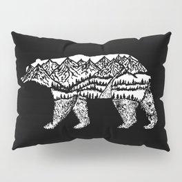 Bear Necessities in Black Pillow Sham