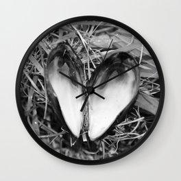 Loveheart Mussels Wall Clock