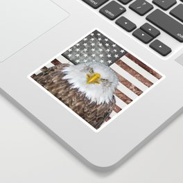 American Bald Eagle Patriot Sticker
