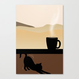 Coffee and Chill Canvas Print