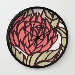 Cut Paper Fowers Wall Clock