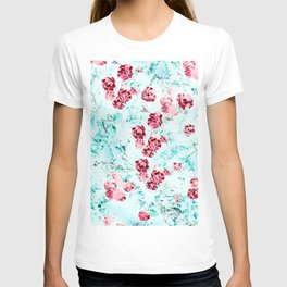 Floral Dream, Surrealism Nature Botanical Graphic Design, Digital Art Rose T-shirt