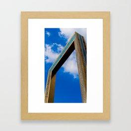 The Dubai Frame Framed Art Print