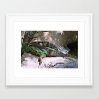 crocodile Framed Art Prints featuring crocodile by lennyfdzz