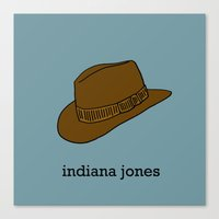 indiana jones Canvas Prints featuring Indiana Jones by Illustrated by Jenny