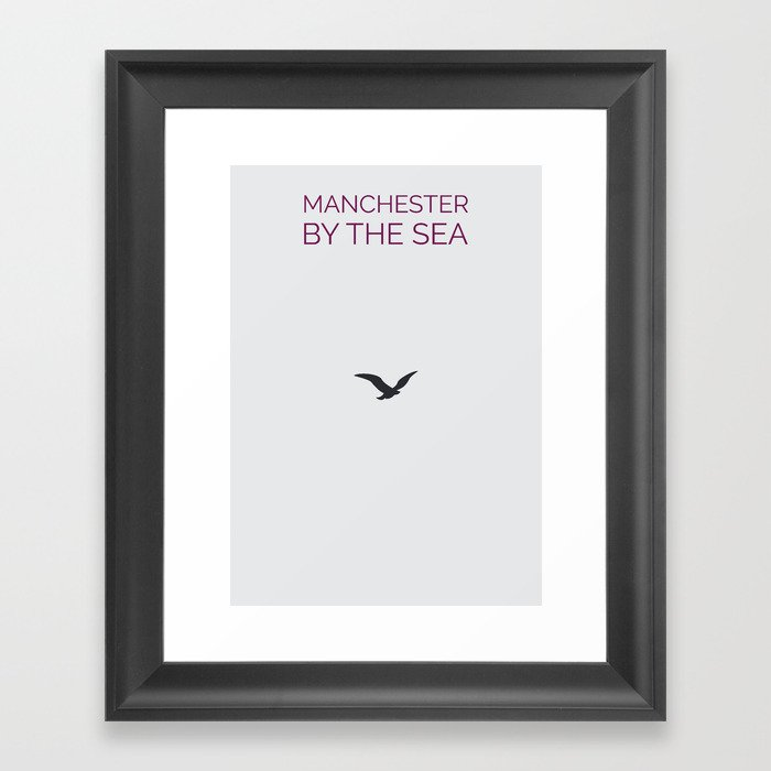 Manchester By The Sea Minimalist Poster Framed Art Print