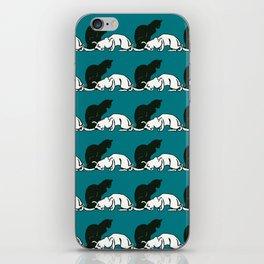 "Théophile Steinlen  ""Frise de chats"" (edited)(5) iPhone Skin"