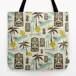 Island Tiki - Tan Tote Bag
