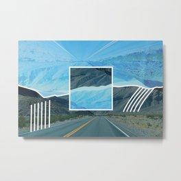 Linear Landscape Metal Print