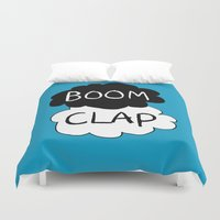 tfios Duvet Covers featuring Boom Clap (the sound of my heart - TFIOS) by Tangerine-Tane