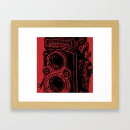 Vintage Rolleiflex (Red/ Black) Framed Art Print