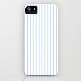 Alice Blue Pinstripe on White iPhone Case