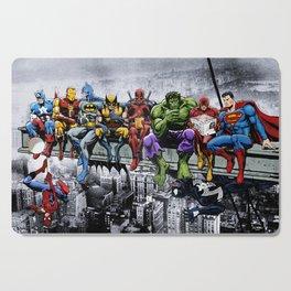 Superhero Lunch Atop A Skyscraper Cutting Board
