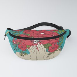 Blooming Red Fanny Pack