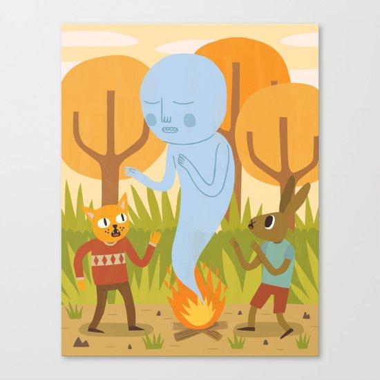 An Encounter Canvas Print