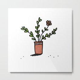 Pretty Plant 1 Metal Print