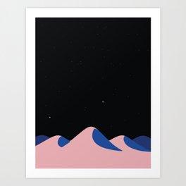 Night in the desert Art Print
