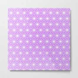 Mauve Flowers and Florals Isosceles Triangle Metal Print
