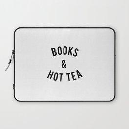 Books and Hot Tea Laptop Sleeve