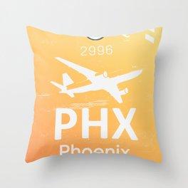PHX Phoenix skyharbor international airport Throw Pillow