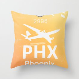 PHX Phoenix skyharbor international airport Throw Pillow
