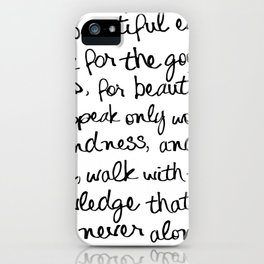 Audrey Hepburn Quote iPhone Case