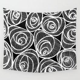 Midnight Roses Wall Tapestry