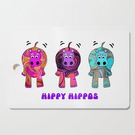 Hippy Hippie Hippos Cutting Board