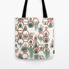 Christmas Succulent Garden. Echeveria, Cacti, plants, aloe vera, pachyveria, haworthia, holiday gift Tote Bag