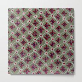Mosaic in green Metal Print