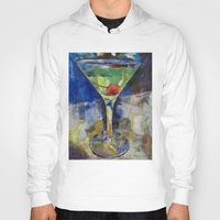 martini Hoodies featuring Summer Breeze Martini by Michael Creese