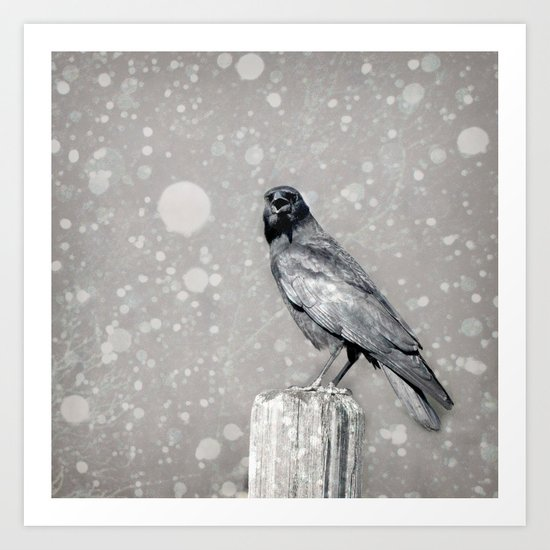 The Stately Raven Art Print
