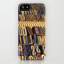 Type Drawer iPhone Case